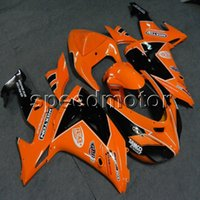Carénages de moto 23colors + Botls orange pour Kawasaki ZX10R 2006 2007 Kit plastique ABS ZX 10R 06-07