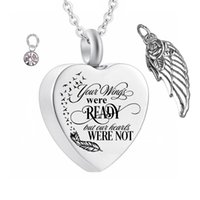 Stainless Steel Angel Wings Cremation Jewelry Ash Necklaces ...