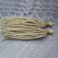 greggio capelli ricci afro crespa brasiliana 2PCS estensioni dei capelli intrecciatura brasiliano capelli umani 200G per intrecciatura bulk attaccamento