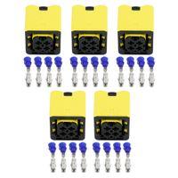 5 Наборы 4 Pin N-датчика кислорода контроллер жгута проводов Автомобильный разъем с клеммами 1-1418390-1