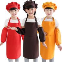 12Colors Kinder Kinderschürze Taschen Küche Kochen Backen Malerei Kochen Art Lätzchen Kinder Plain Schürze Küche SN100