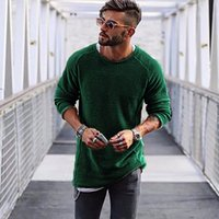 Men Sweater Autumn Winter Knitted Solid Simply Style Pullove...