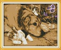 친밀한 파트너 가정 장식 그림, 수제 크로스 스티치 공예 도구 자수 바느질 세트 캔버스 DMC 14CT / 11CT에 카운트 인쇄