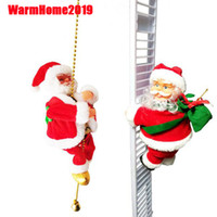 10pcs Lovely Music Christmas Santa Claus Electric Climb Ladd...