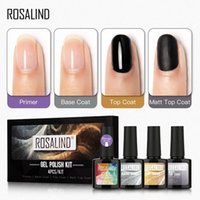 ROSALIND Nail Gel Vernis MATOP Coat Set base de manucure ongles Nail Art Gel UV Kit hybride polonais 10ML / 4PCS