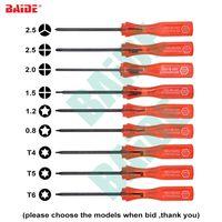 الأحمر 360 مفك ثلاثي الجناح 2.5 y 2.0 فيليبس PH00 1.2 pentalobe p5 نجمة توركس t4 t5 t6 triwing y برغي سائق 1000 قطعة / الوحدة