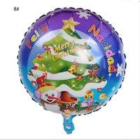 Weihnachten Aluminium Party Dekoration Spherica Ballon Santa Claus Schneemann Latex Ballons Folienpaket Hotel Mall School Decorations