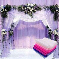 6 pollici nylon cristallo filo sfondo palco filati arco celebrazione matrimonio cerimonia scale decorativo organza nuovo arrivo 1 8hc L1