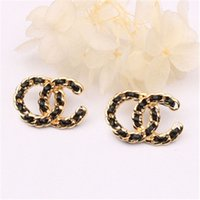 New Style Letter Ear Stud With European And American Persona...