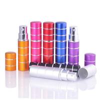7 cores 10ml 10CC 5CC 5ML Mini linha colorida viagem spray garrafas de perfume recarregáveis portáteis vazios Atomizador RRA2309