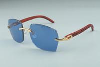 2019 nouveau style 3524018-1 micro-lentilles, lunettes de soleil coupe tigre naturel verres en bois temples, taille: 18-135mm