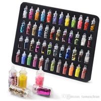 NA058 Glitter per unghie Fiocchi Colorati Tondo Nail Paillettes Paillette Iridescent Glitter Sticker Manicure Nail Art Design FAI DA TE Decalcomanie Decorazione
