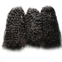 Micro Ring Haarverlängerungen afro verworrene lockige Echthaar-Bündel Micro Loop Echthaarverlängerungen 300s Micro Bead European 300g