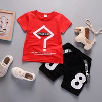 good quality baby boys summer clothing set toddler children ...