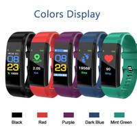 Pour apple ID115 Plus Écran Couleur Bracelet Smart Tracker Fitness Tracker smartband Moniteur de Pression Artérielle De Fréquence Cardiaque Bracelet pour fitbit