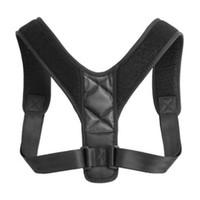 Correção de Postura de Ombro de costas Ajustável Adulto Esportes Segurança Apoio Traseiro Correia de Correia de Apoio de Espinha de Espartilho Posture PCS001