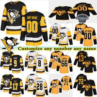 Pittsburgh Penguins Jerseys 13 Tanev 17 RUST 66 Lemieux 8 DUMOULIN 71 Malkin 9 DUPUIS costume qualquer número qualquer jérsei conhecido hóquei
