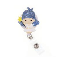 bling strass smalto medico bella infermiera angelo retrattile ID Badge Holder lavoro bobina per medico / infermiere regali