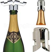 الفولاذ المقاوم للصدأ المحمولة النبيذ سدادة فراغ مختومة الشمبانيا النبيذ سدادة زجاجة كاب برواري شريط أدوات RRA2179