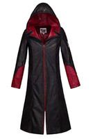 Devil May Cry 5 Dante Manteau en cuir pour hommes Cosplay Costume