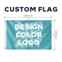 Benutzerdefinierte 5x8FT Flag jeder Größe Marke Firmenlogo Sport Outdoor Banner 150X240cm anpassen Flaggen Messing-Ösen, freies Verschiffen