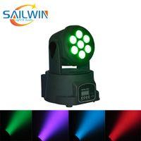 Самый дешевый свет этапа 7 * 8W 4в1 RGBW Лира MINI LED Moving Head Wash Light DJ освещения этап Сторона события Оборудование Звук Активный