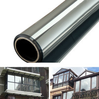 One Way Mirror Privacy Reflection 15% Tint Window Film Solar Energy Save Building Glass Film Home Window Sticker Sun Film 1m * 50cm / 2m * 50cm