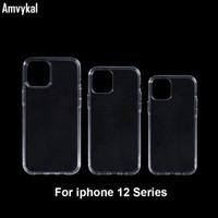Cancella custodie telefoniche per iPhone 12 Pro Max 12Pro 12mini iPhone12 Caso antiurto antiurto 1mm Soft Tpu Gel Cover posteriore in silicone