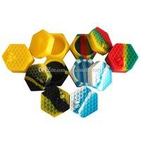 Силиконовые банки DAB Wax Container 10 шт. / Лот 26 мл шестиугольника Улей Noncy Fire Card BPA Бесплатный концентрат масляной кремовой смолы хранения банку