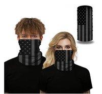 العلم الأمريكي 3D طباعة سلس بانداناس قناع الوجه متعددة الوظائف عقال وشاح حك الدراجات ركوب الدراجات الأشعة فوق البنفسجية حماية الغبار مكس D52709