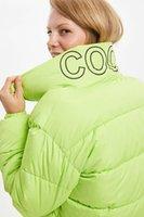 DeFacto Mesdames col montant court Parker Manteaux Femme Mode solides Vestes poche zippée Femme épais Pardessus-L8528AZ19WN
