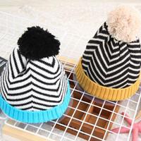 Fashion Designer I bambini Pom Berretti Bambini inverno caldo orecchie Cappelli Pompon Sport Berretti Popolare lavorato a maglia scaldino della testa del regalo Cap ZZA907