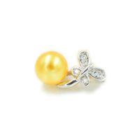 S925 Kelebek İnci kolye kolye Ayar Montaj Tabanı% 100 Katı 925 Gümüş Yarı Dağı Kadın Takı DIY Bulguları DZ038