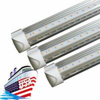 T8 doppia fila integrato principale del tubo 4ft 36w 8ft 72w SMD2835 condotto la lampadina chiara 4 piedi 8 piedi led illuminazione fluorescente
