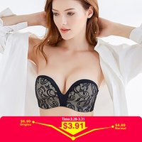 Sexy Lace Invisible Bras For Women Strapless Bra Push Up Bac...