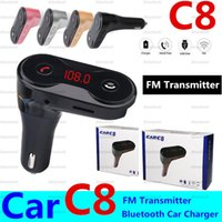 C8 자동차 MP3 오디오 플레이어 무선 블루투스 FM 송신기 키트 변조기 USB 차량용 충전기 지원 TF U 디스크 플레이어 자동차 스타일링 저렴한와