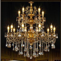 Free Shipping Brass Color Chandelier Lights K9 Crystals Copp...