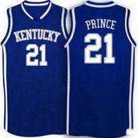 özel XXS-6XL Vintage nadir Erkekler # 21 KENTUCKY Tayshaun Prince LİSESİ mavi Koleji özel basketbol forması Boyut S-4XL veya herhangi bir ad veya num