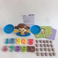 Illuminismo Numero Addizione Sottrazione Math Balance Scales Giochi di società Animal figura Scopri Istruzione prescolare bambino Math Toys VT0521