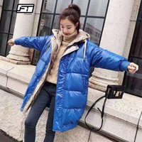 Fitaylor Winter Long Down Parkas Coats Women Silver Hooded W...