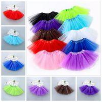 Vêtements enfants Jupes TUTU Bébés filles Danse Mini Robes Ballet Tulle Pettiskirt Fluffy Princesse Fantaisie Party Costume Jupes Dancewear CYP7198