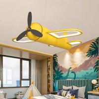 Детская комната LED Plane дизайн Подвесные лампы Желтый Синий цвет Дети Подвесные лампы Мальчики Детские Спальня мультфильм Висячие Deco светотехника