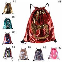 Mermaid paillettes Zaino Paillettes coulisse Borse Outdoor Sports Zaino Glitter Sport Borse a tracolla di spedizione DHL Travel Bag