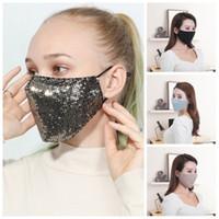 Adulto Lantejoula Respiradores Earloop Protective Mouth máscara facial Homens Mulheres Aqueça fácil de transportar Máscaras de esportes fora 6 5HY H1