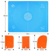 Silikon-Backmatten Antihaft-Gebäck-Matte für Rollen-Teig Anti-Rutsch-BPA-frei mit Teigschaber