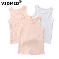 Vidmid Bebek Kız Kolsuz Giysileri Çocuklar Karikatür Kalpler T-shirt 1-7 Yıl Çocuklar Için Pamuk Tankları Yelek Tops Kız Tankları 4003 Y190516