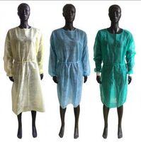 Vestidos de protección no tejidos Desechables PP aislamiento protector Ropa anti-polvo Ropa de trabajo Delantales OOA8182