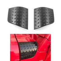 Jeep Wrangler TJ 1997-2006 İkinci Kuşak için Siyah ABS Araç Zırh Yan Cowl Kapak Hood Açı Wrap Kapaklar (işaretçi tarzı)