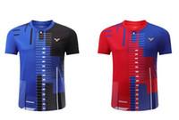 Neues Victor-Tennis-Hemd, Männer Tennis tragen, Victor Badminton T-Shirt, schnell trockener Tisch Tennis Jersey Kleidung tragen Sets