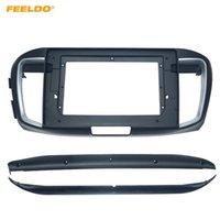 "FEELDO For Honda 13-18 Accord 9 Stereo Audio Face Fascia Frame 10.1"" Large Screen Modified Navigation Panel Frame Kit #6198"